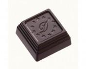 שוקולד מריר עם קרם אגוזים ושקדים